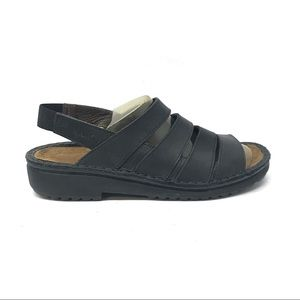 Naot Black Leather Sandals Size US 7 EUR 37